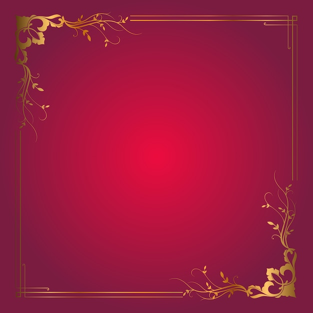 Sfondo cornice decorativa con elegante bordo oro Vettore gratuito