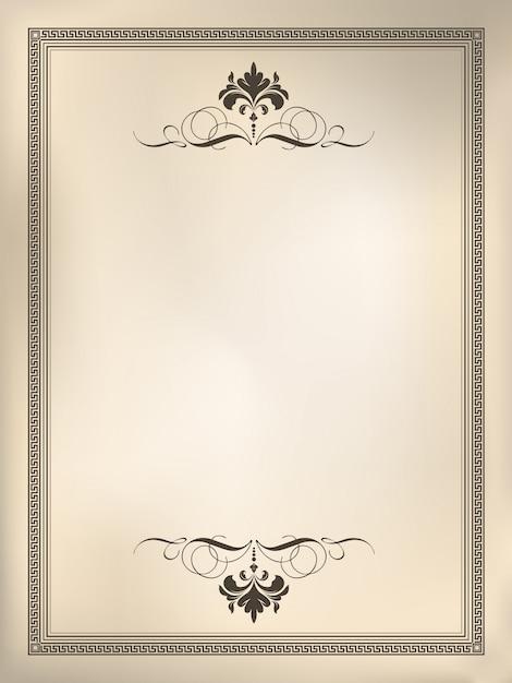 Sfondo cornice vintage ornamentale Vettore gratuito