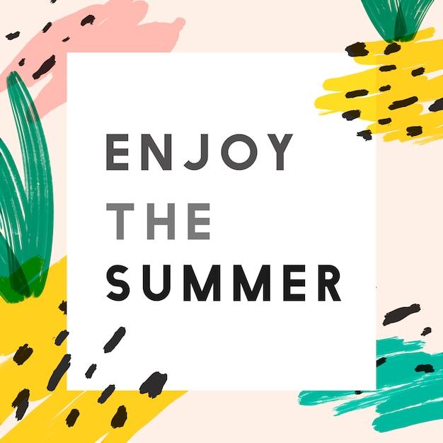 Sfondo creativo instagram estate Vettore gratuito
