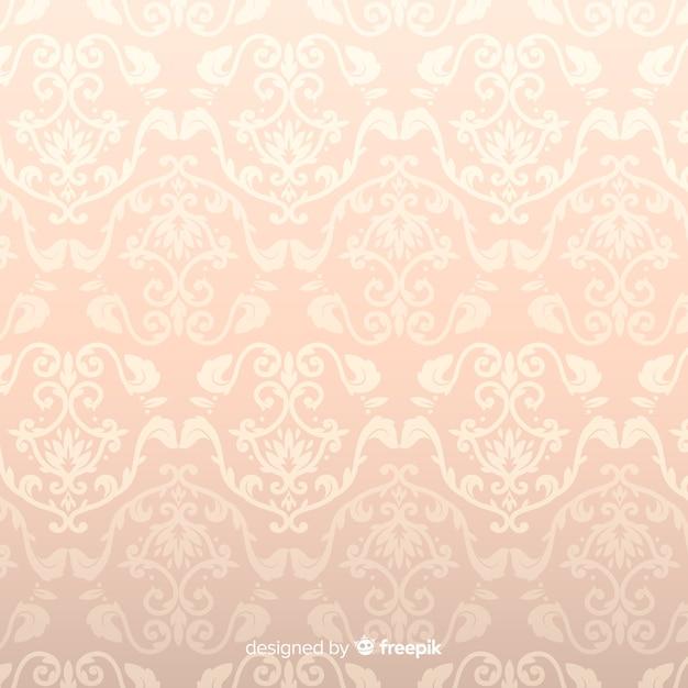 Sfondo damascato decorativo disegnato a mano Vettore gratuito