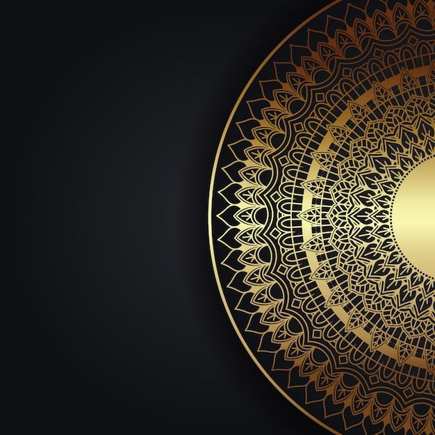 Sfondo decorativo con un elegante design mandala Vettore gratuito