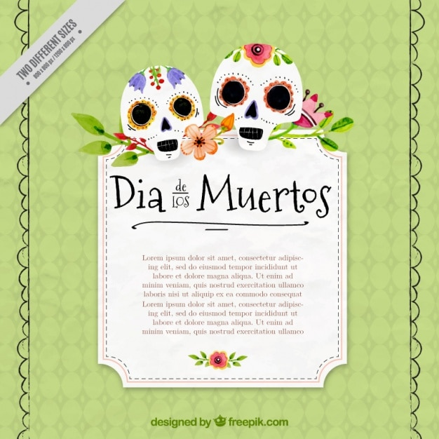 Sfondo decorativo di teschi messicani disegnati a mano for Immagini teschi disegnati
