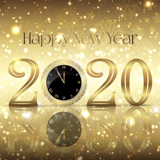 Sfondo decorativo felice anno nuovo Vettore gratuito