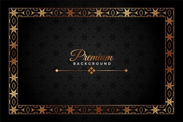 Sfondo decorativo premium nero e oro Vettore gratuito