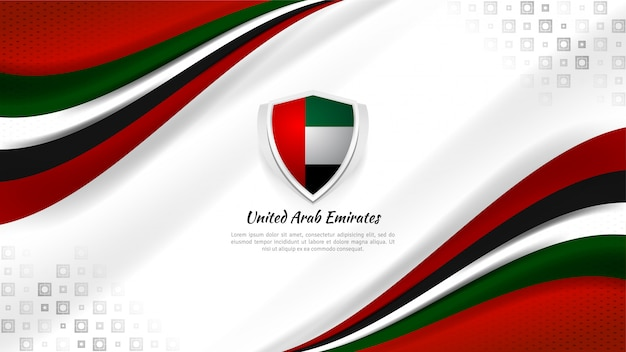 Sfondo degli emirati arabi uniti per il giorno della nazione Vettore Premium