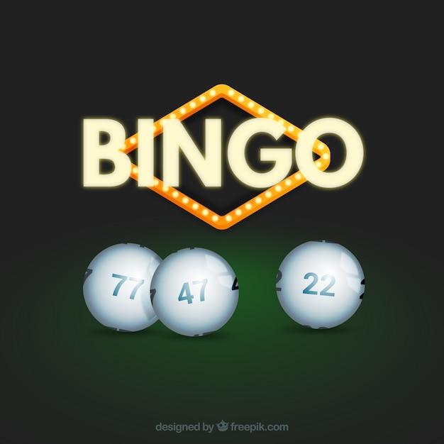 Sfondo del bingo con sfere bianche Vettore gratuito