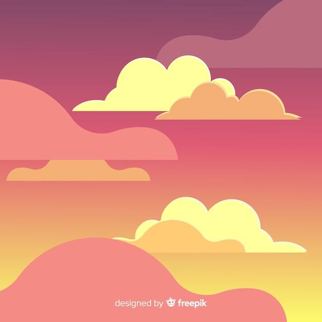 Sfondo del cielo di giorno Vettore gratuito