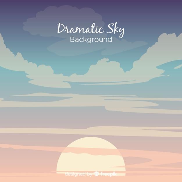 Sfondo del cielo drammatico Vettore gratuito