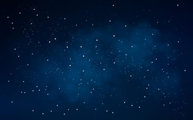 Sfondo del cielo notturno con stelle Vettore Premium