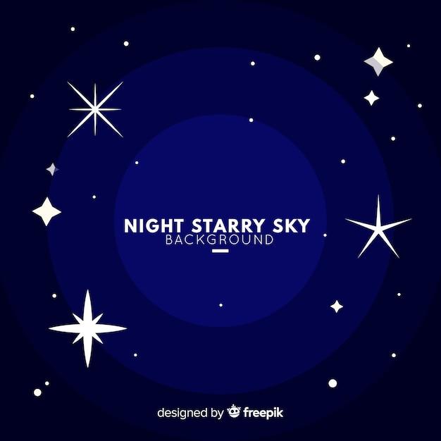 Sfondo del cielo stellato di notte Vettore gratuito