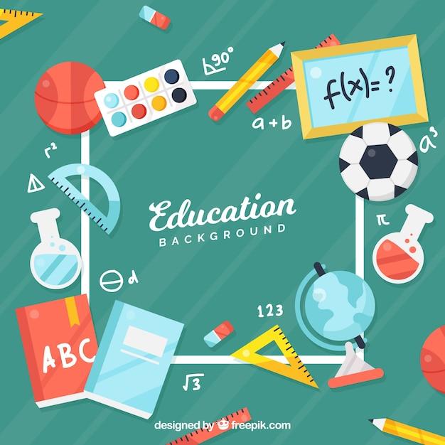 Sfondo del concetto di educazione Vettore gratuito