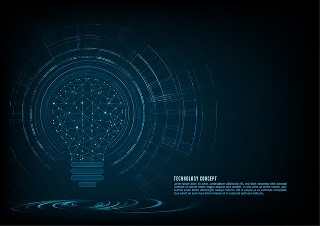 Sfondo del concetto di tecnologia Vettore Premium