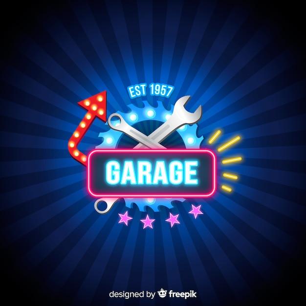 Sfondo del garage Vettore gratuito