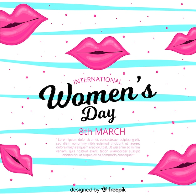 Sfondo del giorno delle donne Vettore gratuito