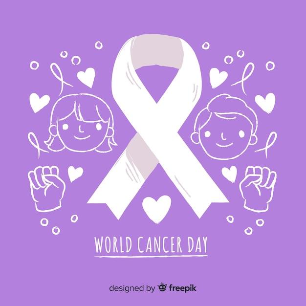 Sfondo del giorno mondiale del cancro Vettore gratuito