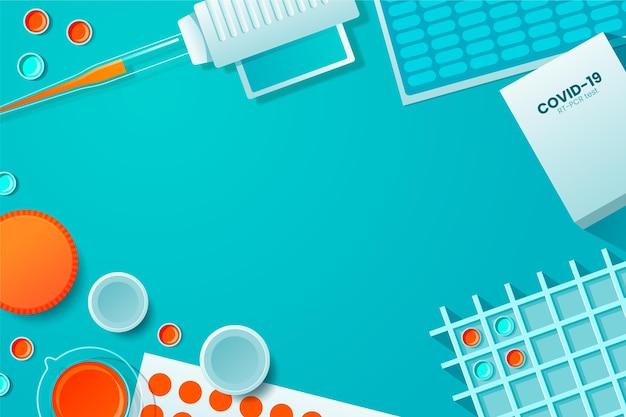 Sfondo del kit di test del coronavirus Vettore gratuito