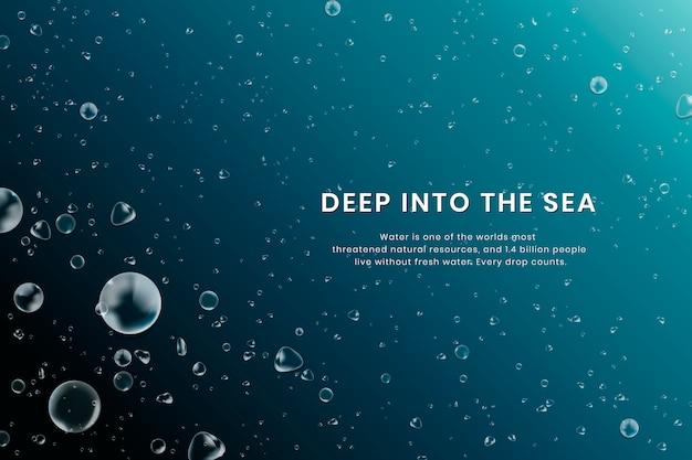 Sfondo del mare profondo Vettore gratuito