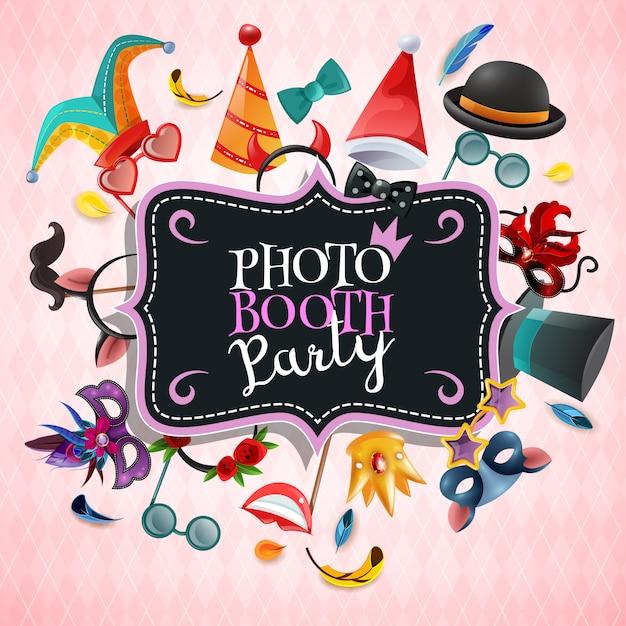 Sfondo del partito di photo booth Vettore gratuito
