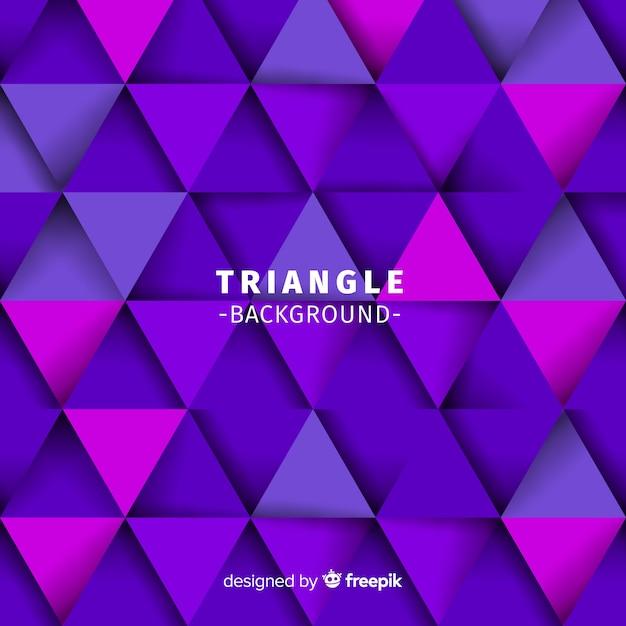 Sfondo del triangolo Vettore Premium