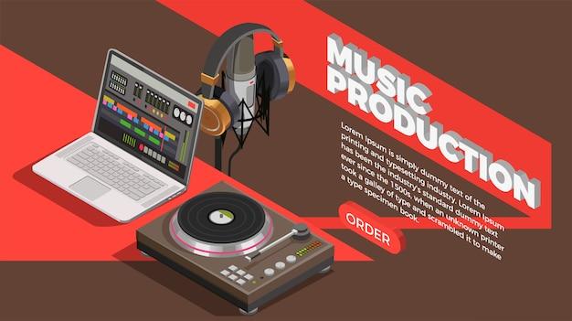 Sfondo dell'industria musicale Vettore gratuito