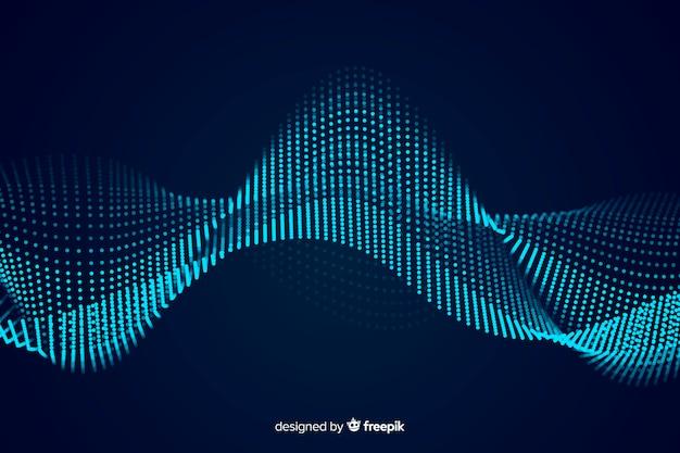 Sfondo dell'onda sonora Vettore gratuito