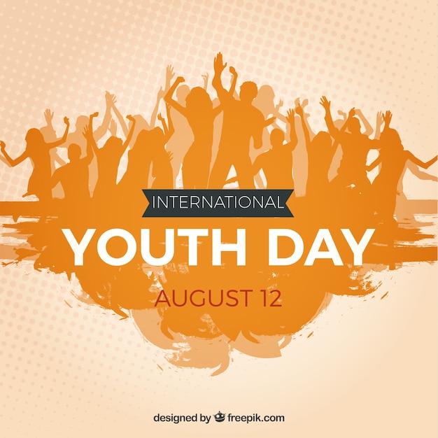 Sfondo della folla della gioventù Vettore gratuito