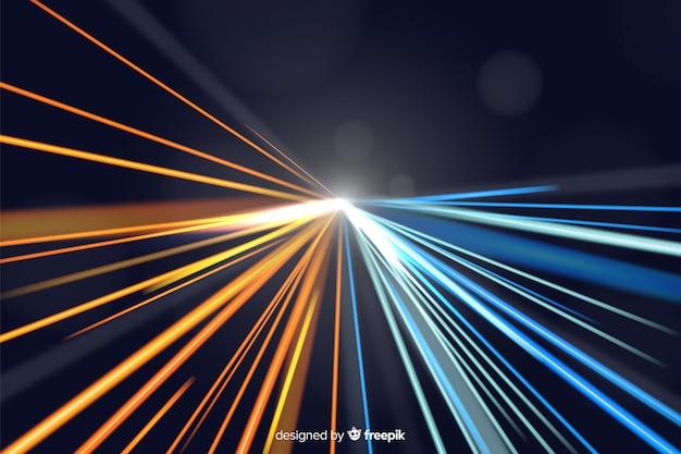 Sfondo della pista luminosa Vettore gratuito