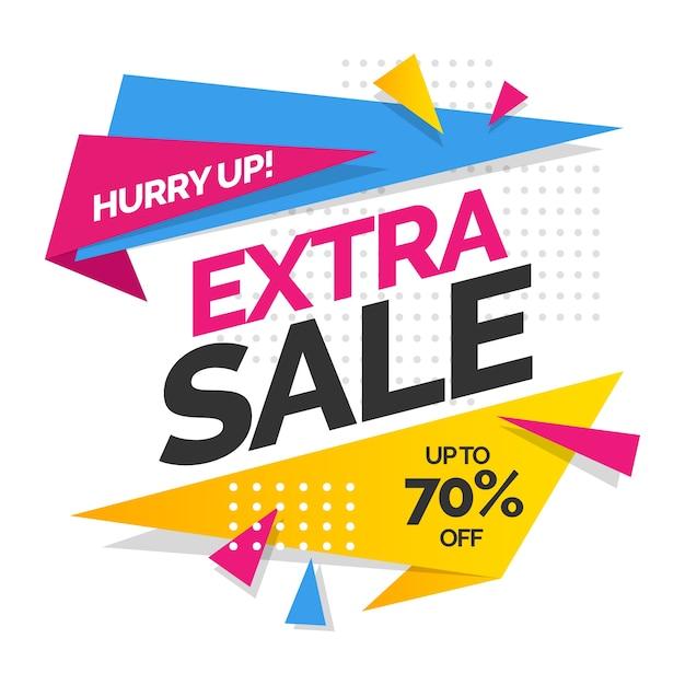Sfondo delle vendite con vendita extra Vettore gratuito