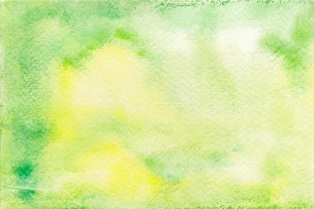 Sfondo Di Acquerello Verde E Giallo Scaricare Vettori Gratis