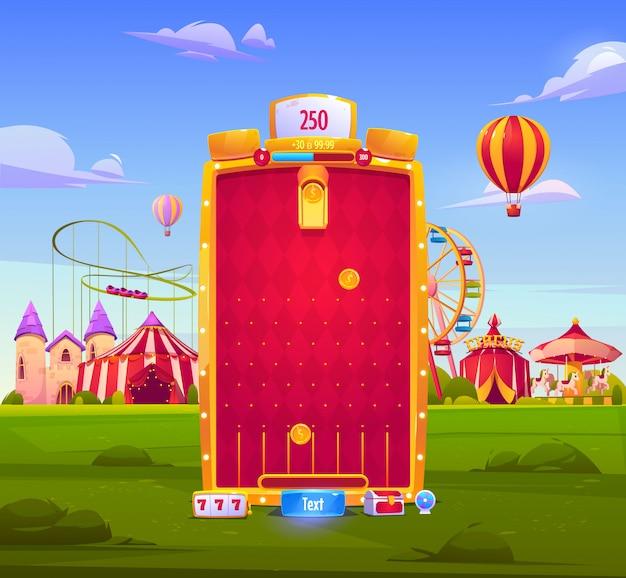Sfondo di app di giochi per dispositivi mobili, interfaccia dell'applicazione Vettore gratuito