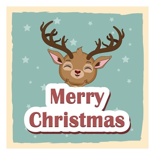 Foto Carine Di Natale.Sfondo Di Auguri Di Natale Con Renna Gioiosa Carina