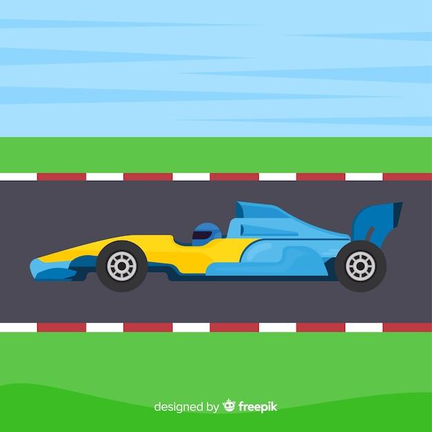Sfondo di auto da corsa di formula 1 Vettore gratuito