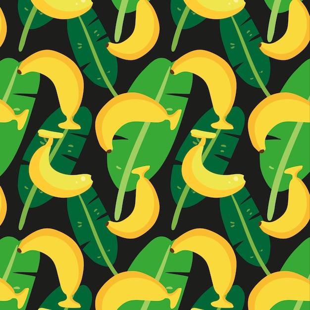 Sfondo di banana pattern Vettore gratuito
