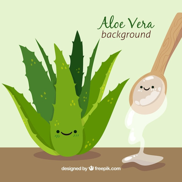 Sfondo di bella pianta di aloe vera Vettore gratuito