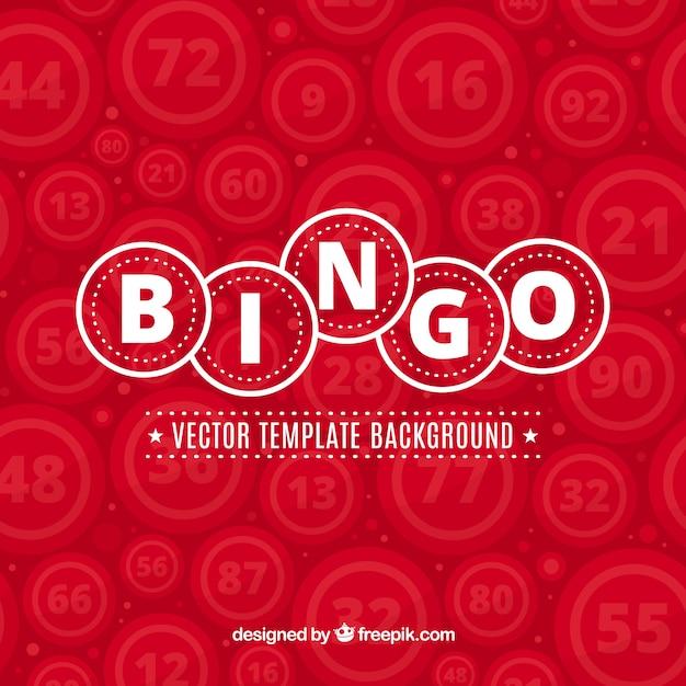Sfondo di bingo rosso Vettore gratuito