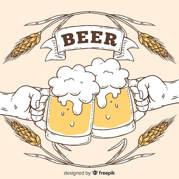 Sfondo di birra Vettore gratuito