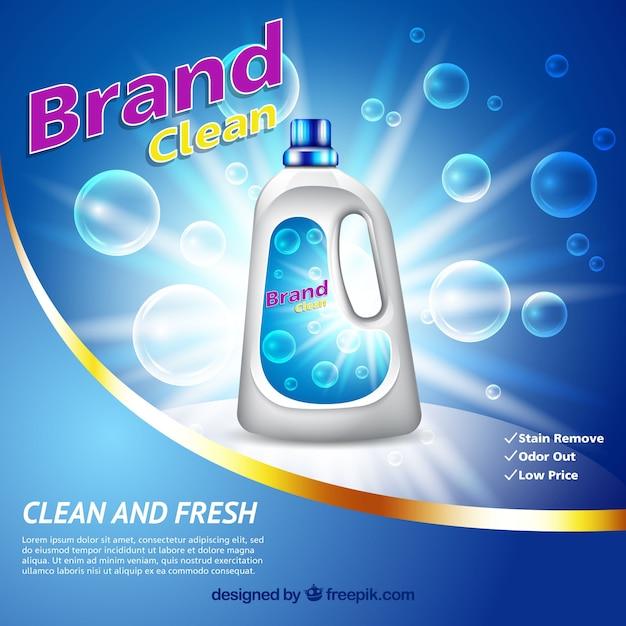 Sfondo di bolla con detergente Vettore gratuito