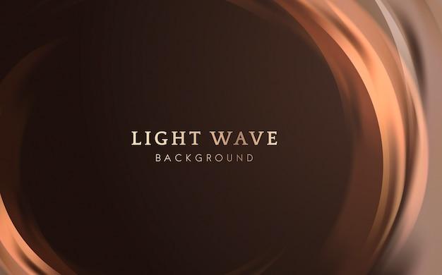 Sfondo di bordo onda luminosa Vettore gratuito