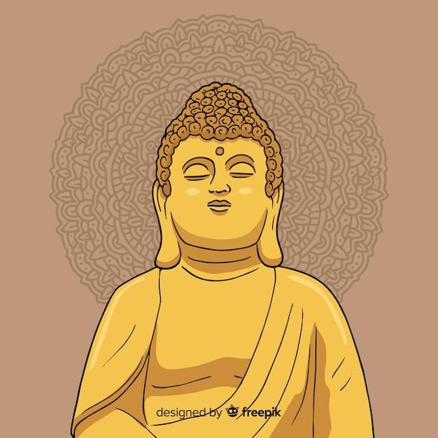 Sfondo di buddha Vettore gratuito