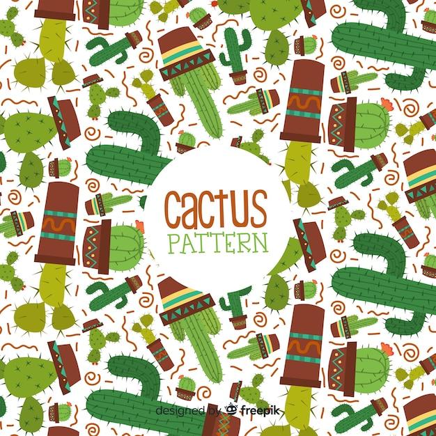Sfondo di cactus Vettore gratuito
