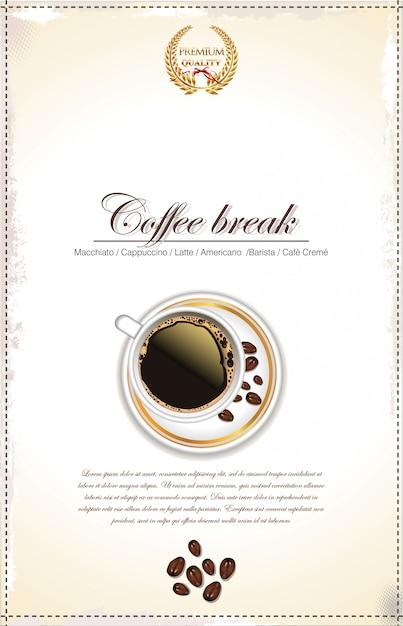 Sfondo di caffè Vettore Premium