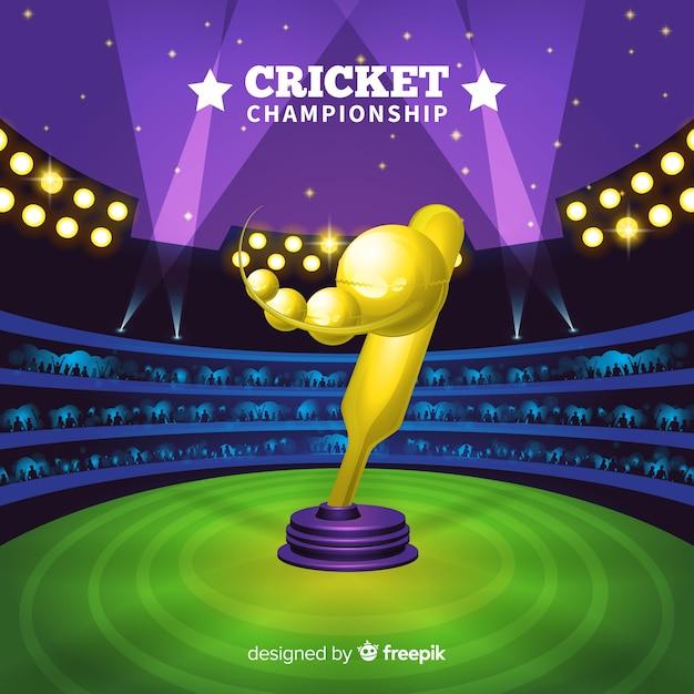 Sfondo di campionato di cricket Vettore gratuito