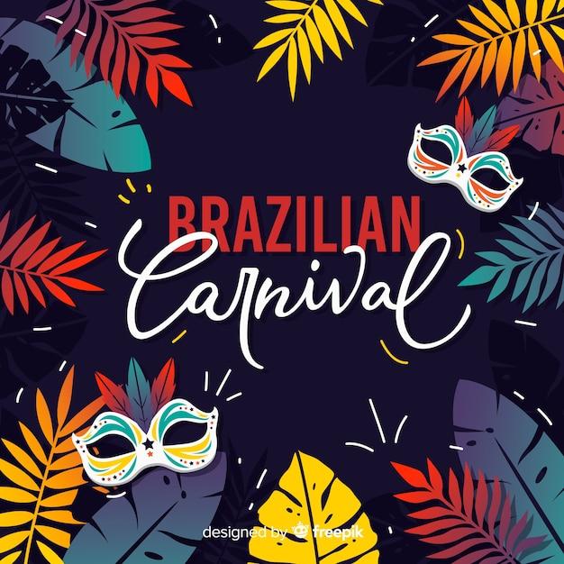 Sfondo di carnevale brasiliano Vettore gratuito