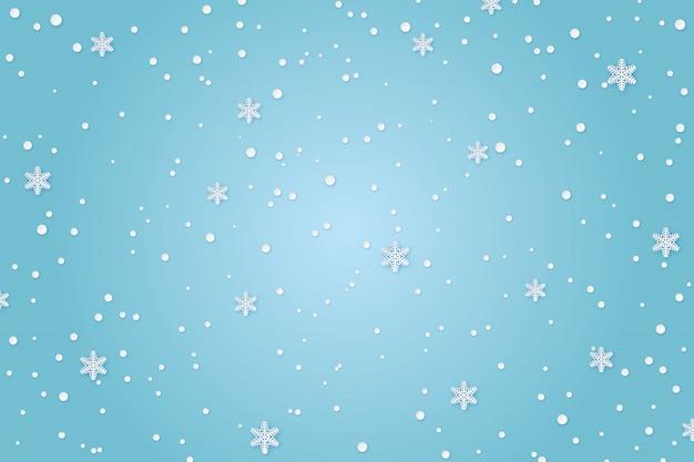Sfondo di carta invernale Vettore Premium