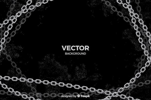 Sfondo di catene d'argento piatto Vettore gratuito