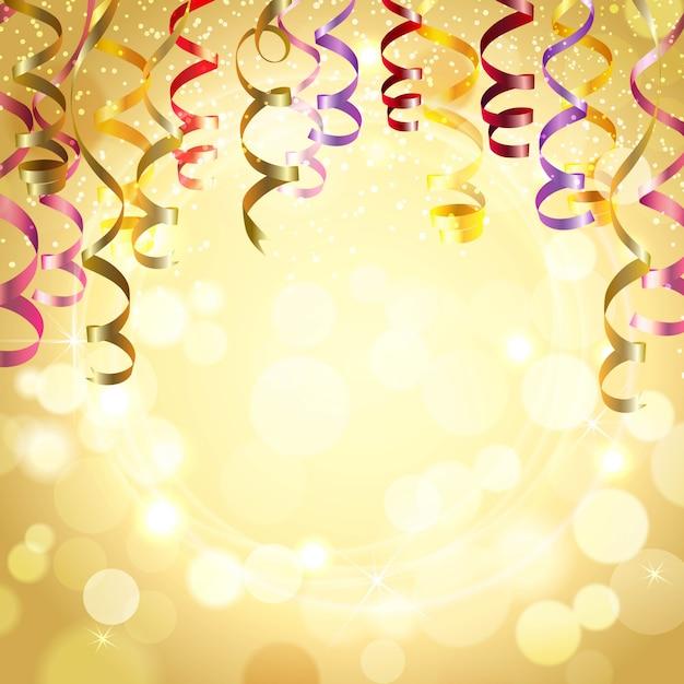 Sfondo di celebrazione con stelle filanti Vettore gratuito