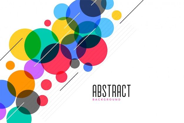 Sfondo di cerchi colorati con linee Vettore gratuito