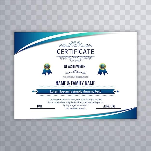 Sfondo di certificato moderno Vettore gratuito