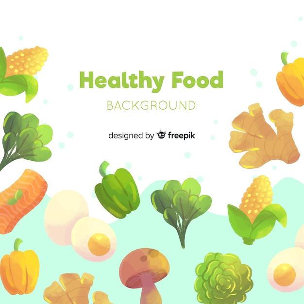 Sfondo di cibo sano Vettore gratuito