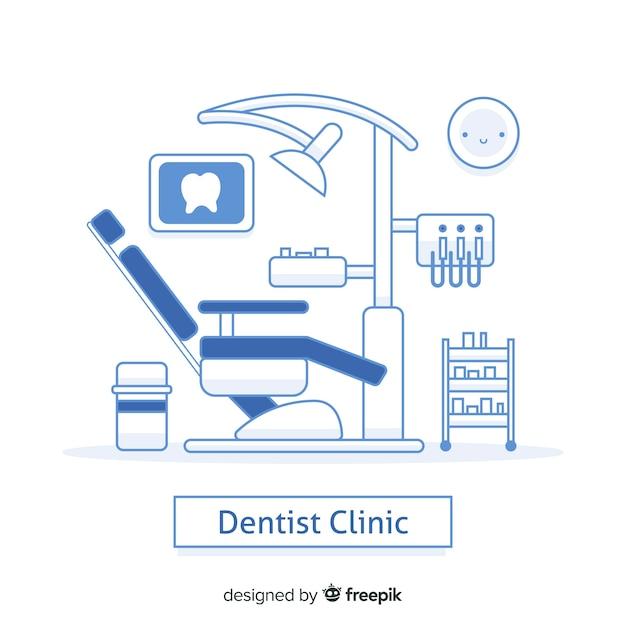 Sfondo di clinica dentistica piatta Vettore gratuito